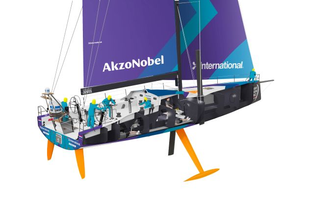 replika Volvo Ocean 65 AkzoNobel Volvo Ocean Race