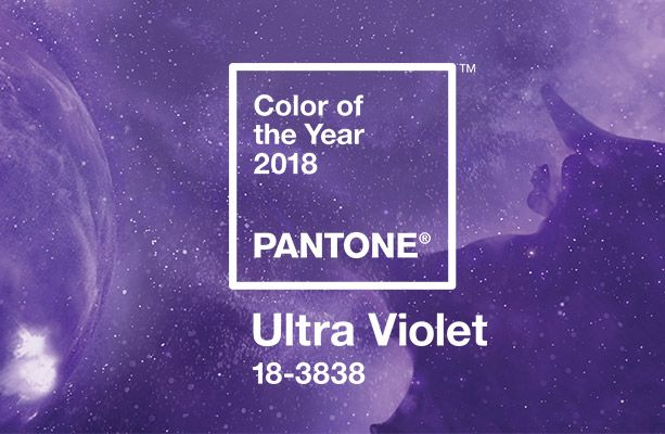 Pantone Ultra Violet Kolor Roku 2018