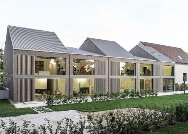 Centrum rodzinne w Poppenweiler (Pullex Silverwood na świerku). Fot. VON M Architects