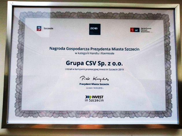Grupa CSV nagroda Szczecin