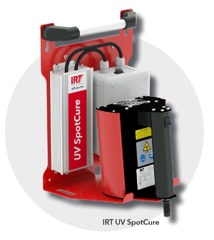 IRT UV spotcure device