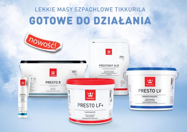 masy szpachlowe Tikkurila Presto