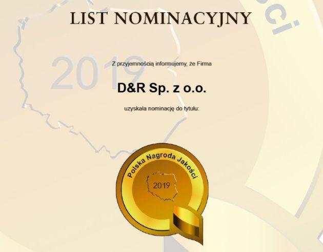 D&R Polska Nagroda Jakości 2019