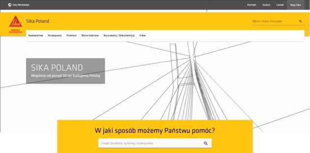 strona internetowa Sika