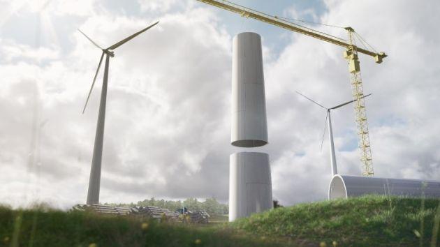 Teknos Modivon powłoka polimocznikowa drewniane wieże turbin wiatrowych