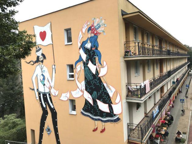 literacki mural Farby KABE