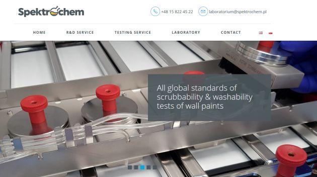 strona internetowa laboratorium Spektrochem