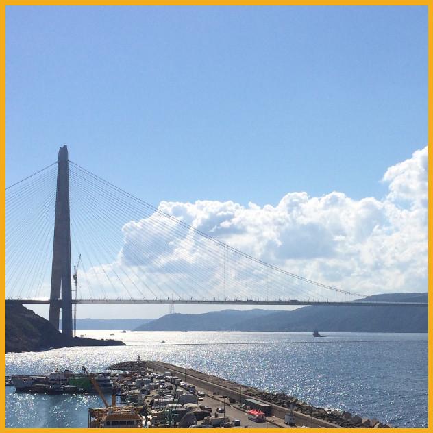 Bosfor Turkey Bridge painted with Jotun
