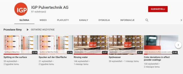 IGP Pulvertechnik YouTube
